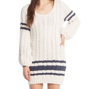 Chaser Cable Knit Mini Sweater Dress NWT